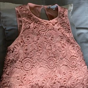Pale pink lace top , worn once.